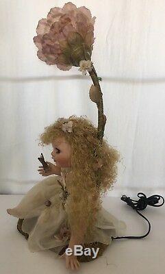 Vintage Rare Duck House Heirloom Porcelaine Poupée Fée Lampe Veilleuse