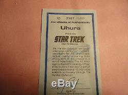 Vintage Star Trek Hamilton Ernest Uhura Porcelaine 14 Poupée, Boîte, Coa (menthe)