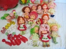 Vintage Strawberry Shortcake Lot Maison Jardin Poupées Animaux Peignes Accessoires