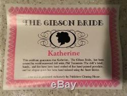 Vintage The Gibson Bride, Poupée En Porcelaine De Katherine Par L'artiste Phil Tumminio