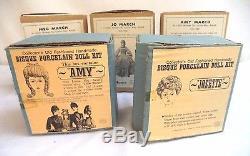 Vintage Yield House & Shackman Ensemble De Poupées De Petites Femmes Lot Complete & Mint In Box