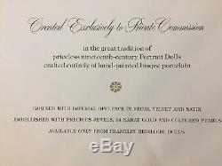 Vtg 1986 $ 1500 Empress Ioll Carl Doll De Porcelaine Faberge Alexandra Czarina Russie