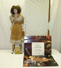 Vtg 1987 Porcelaine 19 Loretta Lynn Franklin Mint Heirloom Poupée Avec Box & Tag