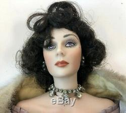 Vtg 1991 Tori Rustie 18 Porcelaine Chablis Étole De Fourrure Flapper Mannequin Doll