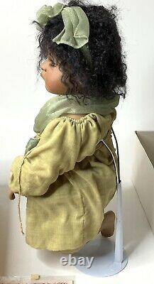 Vtg 2000 Linda Valentino Michel Porcelaine African American Doll Marked Angel