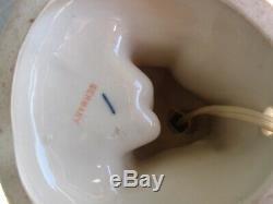 Vtg Art Déco Porcelaine Allemagne Lady Harlequin Dresser Doll Figurine Boudoir Lampe