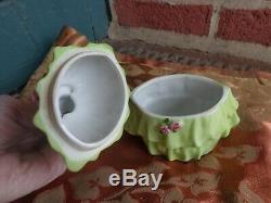 Vtg Art Déco Porcelaine Nancy Pert Erphila Allemagne Lady Perot Dresser Jar Doll