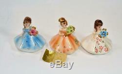 Vtg Des Années 60 Josef Originals Poupée En Pierre De Naissance Porcelaine Complète Set 12 Figurines Rare