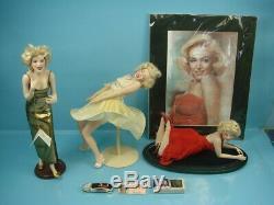Vtg Marilyn Monroe Poupées Franklin En Porcelaine Menthe Et Objets D'art Encadrés À Collectionner