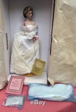 Vtg Princesse Grace De Monaco En Porcelaine Poupée Franklin Mint 16 Nrfb Belle