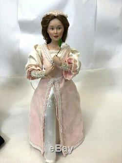 Vtg Rare 1990 Paire Danbury Mint 18 Shakespeare Romeo & Juliet Poupées De Porcelaine