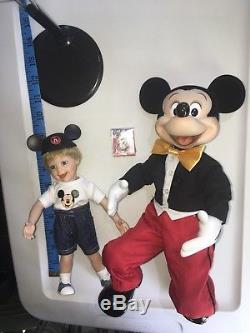 Vtg Walt Disney Ashton Drake Un Étreinte Pour Mickey Mouse Porcelaine Set Rare Htf