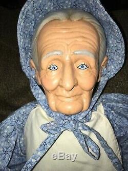 William Wallace Jr Poupées 31 Grand-mère Et Grand-père 33 Porcelaine Vintage- Très Bon